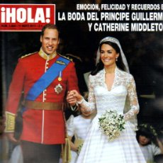 Coleccionismo de Revista Hola: ¡HOLA! LA BODA DEL PRINCIPE GUILLERMO Y CATHERINE MIDDLETON / MAYO 2.011. Lote 26668225