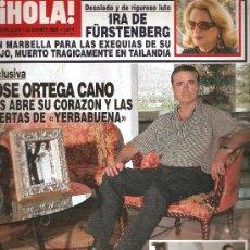 Coleccionismo de Revista Hola: REVISTA ¡HOLA ! Nº 3.238 AGOSTO 2006 . Lote 28564050