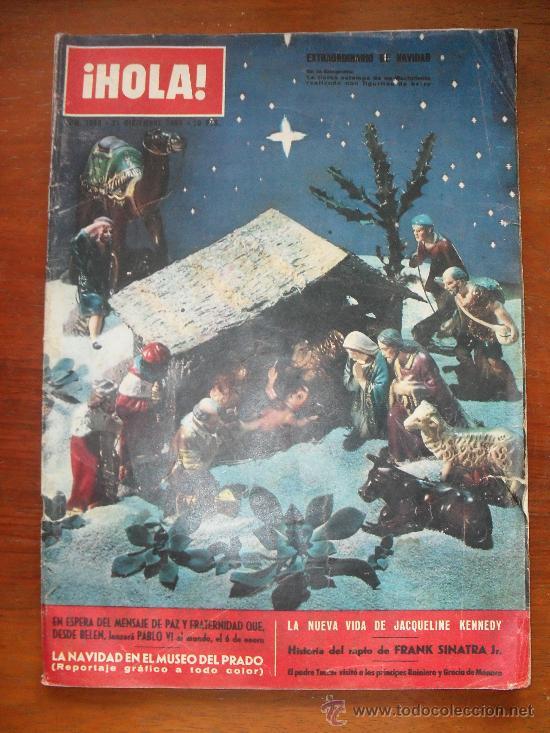 REVISTA HOLA Nº 1008, 21 DE DICIEMBRE DE 1963 - EXTRAORDINARIO DE NAVIDAD -LA NUEVA VIDA DE JACQUELI (Coleccionismo - Revistas y Periódicos Modernos (a partir de 1.940) - Revista Hola)