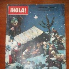 Coleccionismo de Revista Hola: REVISTA HOLA Nº 1008, 21 DE DICIEMBRE DE 1963 - EXTRAORDINARIO DE NAVIDAD -LA NUEVA VIDA DE JACQUELI. Lote 28943317