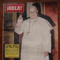 Coleccionismo de Revista Hola: REVISTA HOLA Nº 979, 1 DE JUNIO DE 1963, JUAN XXIII, CLAUSURA DEL FESTIVAL DE CANNES. Lote 28943459