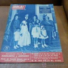 Coleccionismo de Revista Hola: REV. HOLA 1/7/1960 PRIMERA COMUNION DE MARIA DE LA O MARTINEZ-BORDIU. Lote 29364305