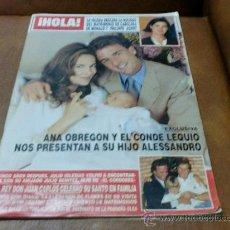 Coleccionismo de Revista Hola: REV. HOLA - 1/1989.-ANA OBREGON RPTJE., PRINCESA DIANA,CAROLINA Y PHILIPPE,EL LIITRI,EL CORDOBES/. Lote 29431293