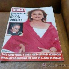 Coleccionismo de Revista Hola: REV. HOLA - 5/2006. ADIOS A ROCIO AMPLIO RPTJE, SHARON STONE,SILVIA JATO,MARIA CASADO,EVA ZALDIVAR. Lote 29460548