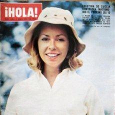 Coleccionismo de Revista Hola: ¡HOLA! Nº 1553-1 JUNIO 1974- CRISTINA DE SUECIA CONTRAERA MATRIMONIO EL PROXIMO 15. Lote 29751255