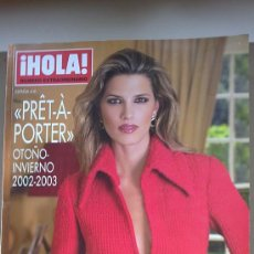 Coleccionismo de Revista Hola: &REV. HOLA ESPECIAL PRÊT-A-PORTER .OTOÑO/INVIERNO./2.002./2003.LAURA SANCHEZ.. Lote 30075724