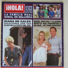 Coleccionismo de Revista Hola: HOLA Nº 2.608 - 4 AGOSTO 1994 - ANA OBREGON, DIANA DE GALES, VERONICA MENGOD, CAROLINA DE MONACO. Lote 39927367