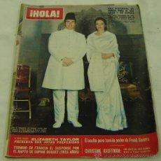 Coleccionismo de Revista Hola: REVISTA HOLA NRO.1315-ALFOMBRA DE PERLAS PARA EL AGA KHAN Y ESPOSA-08/11/1969. Lote 30998211