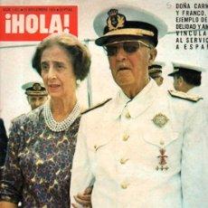Coleccionismo de Revista Hola: REVISTA HOLA, º.631, NOVIEMBRE 1975, LUTO NACIONAL, EL CAUDILLO HA MUERTO. Lote 32263492