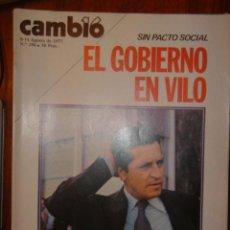 Coleccionismo de Revista Hola: CAMBIO Nº 296 AÑO 1977 / SIN PACTO SOCIAL EL GOBIERNO EN VILO. Lote 32297788