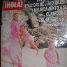 Coleccionismo de Revista Hola: HOLA Nº3.125AÑO 2004LAS IMAGENES DE LA FELICIDAD DE JULIO IGLESIAS Y MIRANDA JUNTO A SUS CUATRO HIJO. Lote 32464694
