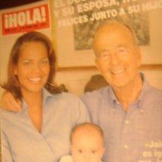 Coleccionismo de Revista Hola: HOLA Nº3141 AÑO 2004 EL DOCTOR IGLESIAS Y SU ESPOSA,RONNA FELICES JUNTOS A SU HIJO. Lote 32471142