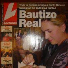 Coleccionismo de Revista Hola: HOLA Nº 2548 AÑO 2001 TODA LA FAMILIA ARROPO A PABLO NICOLAS SABASTIAN DE TODOS LOS SANTOS. Lote 32489243