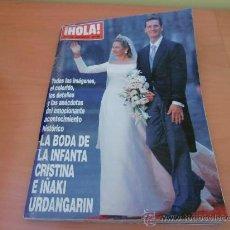 Coleccionismo de Revista Hola: REVISTA HOLA BODA DE LA INFANTA CRISTINA E IÑAKI URDANGARIN. Lote 32615886