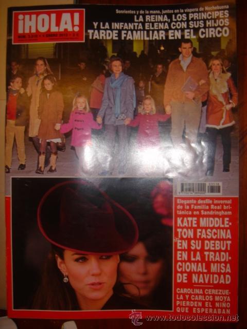 HOLA Nº 3518 AÑO 2012 - LA REINA, LOS PRINCIPES E INFANTA ELENA TARDE EN EL CIRCO, KATE MIDDLETON (Coleccionismo - Revistas y Periódicos Modernos (a partir de 1.940) - Revista Hola)