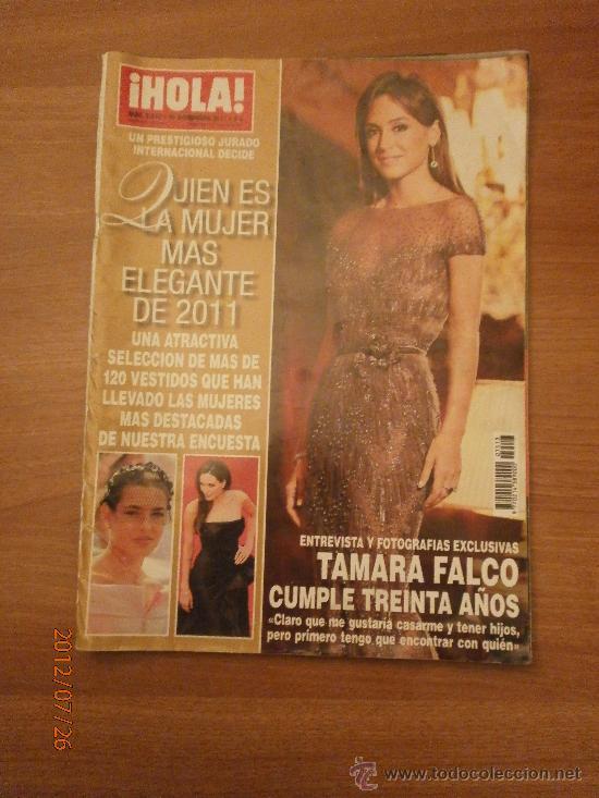 REVISTA HOLA , Nº 3513- 30 NOVIEMBRE 2011- TAMARA FALCO CUMPLE TREINTA AÑOS (Coleccionismo - Revistas y Periódicos Modernos (a partir de 1.940) - Revista Hola)