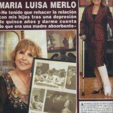 Coleccionismo de Revista Hola: MARIA LUISA MERLO, LOTE DE VARIOS RECORTES, FOTOS Y ARTÍCULOS ACTRIZ ESPAÑOLA. Lote 32859129