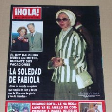 Coleccionismo de Revista Hola: REVISTA HOLA / AGOSTO 1993.. Lote 33024692
