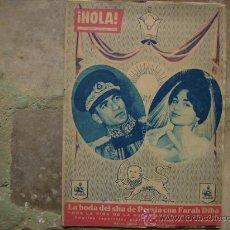 Coleccionismo de Revista Hola: HOLA,BODA DEL SHA DE PERSIA Y FARAH DIBA.. Lote 34964288