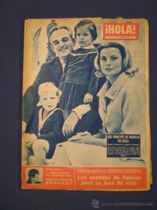 REVISTA HOLA - NOVIEMBRE DEL 60 - PRINCIPES DE MONACO (Coleccionismo - Revistas y Periódicos Modernos (a partir de 1.940) - Revista Hola)