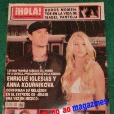 Coleccionismo de Revista Hola: HOLA 3084/2003~ENRIQUE IGLESIAS~KOURNIKOVA~DAVID BISBAL~ALEJANDRO SANZ~ISABEL PANTOJA~E.KOPLOWITZ. Lote 33692085