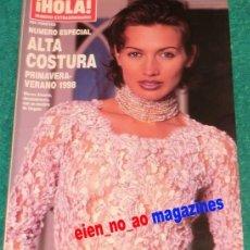 Coleccionismo de Revista Hola: HOLA NÚMERO EXTRAORDINARIO ~ ALTA COSTURA PRIMAVERA-VERANO 1998, 228 PÁGINAS ~ NIEVES ALVAREZ. Lote 33706699