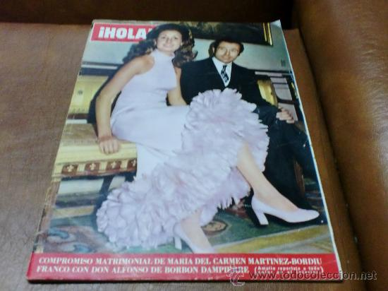 REV.-HOLA 1/1-972 .-COMPROMISO MATRIMONIAL MªCARMENY DON ALFONSO.AMPLIO RPTJE.MISS MUNDO 1971 (Coleccionismo - Revistas y Periódicos Modernos (a partir de 1.940) - Revista Hola)
