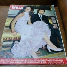 Coleccionismo de Revista Hola: REV.-HOLA 1/1-972 .-COMPROMISO MATRIMONIAL MªCARMENY DON ALFONSO.AMPLIO RPTJE.MISS MUNDO 1971. Lote 34118405