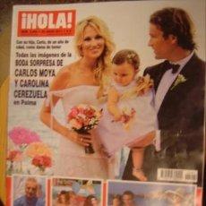 Coleccionismo de Revista Hola: HOLA! Nº 3494 AÑO 2011.BODA CARLOS MOYA Y CAROLINA CEREZUELA- TITA CERVERA- PALOMA CUEVAS. Lote 34325225