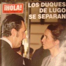 Coleccionismo de Revista Hola: HOLA! Nº 3303 AÑO 2007.DUQUES DE LUGO. Lote 34325860