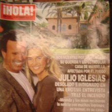 Coleccionismo de Revista Hola: HOLA! Nº 3554-SEPT 2012. JULIO IGLESIAS Y MIRANDA. BODA VANESSA ROMERO. INFANTA CRISTINA, VIDA EN BC. Lote 34359402