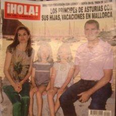 Coleccionismo de Revista Hola: HOLA! Nº 3550. AGOSTO 2012.PRINCIPES DE ASTURIAS E HIJAS EN MALLORCA /ADIOS A BELEN ORDOÑEZ. Lote 34359465