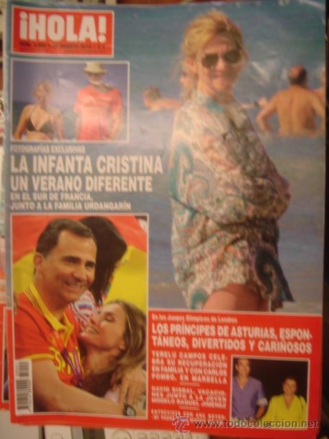 HOLA Nº 3551. AGOSTO 2012. VERANO INFANTA CRISTINA/ANA BOYER/PRINCIPES DE ASTURIAS DIVERTIDOS (Coleccionismo - Revistas y Periódicos Modernos (a partir de 1.940) - Revista Hola)