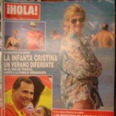 Coleccionismo de Revista Hola: HOLA Nº 3551. AGOSTO 2012. VERANO INFANTA CRISTINA/ANA BOYER/PRINCIPES DE ASTURIAS DIVERTIDOS. Lote 34360447