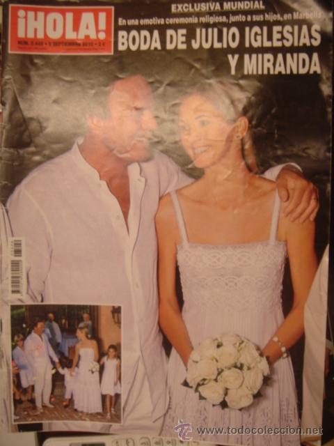 HOLA Nº 3449-SEPT 2010/BODA JULIO IGLESIAS Y MIRANDA/DUQUESA DE ALBA/ (Coleccionismo - Revistas y Periódicos Modernos (a partir de 1.940) - Revista Hola)