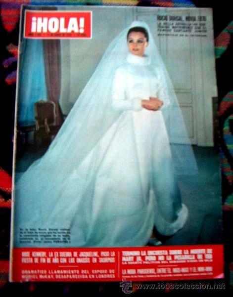 revista hola 1970 / boda de rocio durcal, sacha - comprar revista