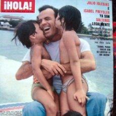 Coleccionismo de Revista Hola: HOLA / MISS UNIVERSO, UNIVERSE, JULIO IGLESIAS, ENRIQUE IGLESIAS, LAURA ANTONELLI, FARAH DIBA. Lote 48734761