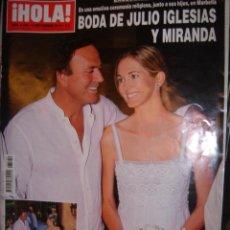 Coleccionismo de Revista Hola: REVISTA HOLA Nº3449 AÑO 2010 BODA DE JULIO IGLESIAS Y MIRANDA. Lote 35622802