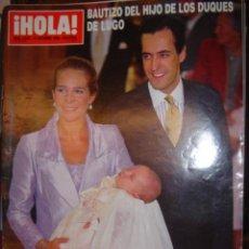 Coleccionismo de Revista Hola: REVISTA HOLA Nº 2827 ANO 1998 BAUTIZO DEL HIJO DE LOS DUQUES DE LUGO. Lote 35638391