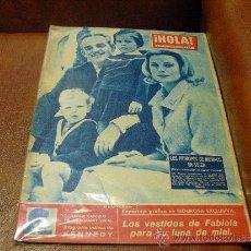 Coleccionismo de Revista Hola: REV. HOLA 11 /1960- LOS PRINCIPES MONACO EN SUIZA-AMPLIO RPTJE.LOS KENNEDY,MODA,SOFIA LOREN. Lote 36303116