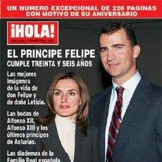 Coleccionismo de Revista Hola: REVISTA HOLA NUM. 3105 FEBRERO 2004 - EL PRINCIPE FELIPE CUMPLE TREINTA Y SEIS AÑOS. Lote 70428037