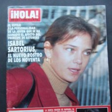 Coleccionismo de Revista Hola: REVISTA HOLA N 2424 AÑO 1991 ISABEL SANTORIUS. Lote 37150214