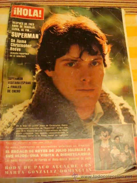 JULIO IGLESIAS- CHRISTOPHER REEVE (SUPERMAN)- MAYRA GOMEZ KEMP. (Coleccionismo - Revistas y Periódicos Modernos (a partir de 1.940) - Revista Hola)