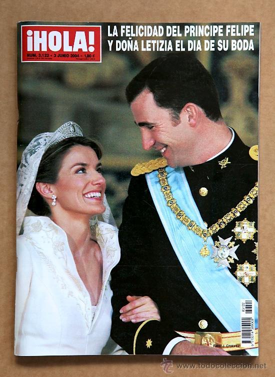 HOLA 3122 - 3 JUN 2004 - BODA PRINCIPE FELIPE Y LETICIA ORTIZ (Coleccionismo - Revistas y Periódicos Modernos (a partir de 1.940) - Revista Hola)