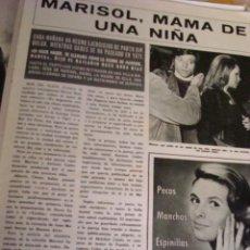 Coleccionismo de Revista Hola: MARISOL- JACKIE KENNEDY- ROMY SCHNEIDER- REVISTA HOLA. Lote 37509417
