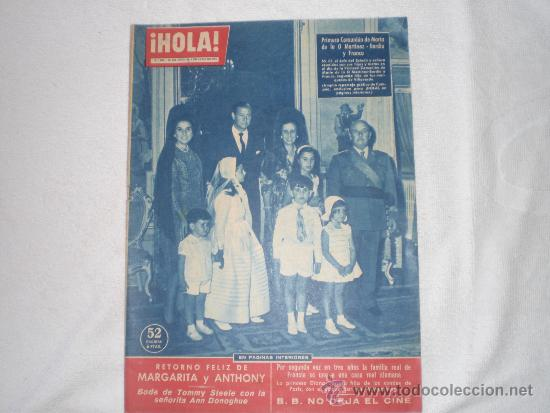 HOLA 1960 PRIMERA COMUNION DE LA NIETA DE FRANCO (Coleccionismo - Revistas y Periódicos Modernos (a partir de 1.940) - Revista Hola)