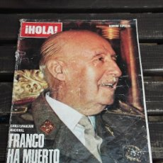 Coleccionismo de Revista Hola: REVISTA HOLA -FRANCO HA MUERTO- NÚMERO ESPECIAL. Lote 37656541