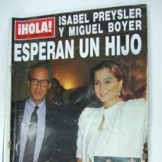 Coleccionismo de Revista Hola: REVISTA HOLA 1988 - ISABEL PREYSLER Y BOYER ESPERAN UN HIJO - DOÑA SOFIA - JOSE CORONADO - DUQUE . Lote 37683215