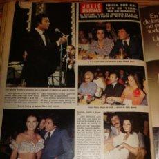 Coleccionismo de Revista Hola: JULIO IGLESIAS- ISABEL PREYSLER- MARIA JOSE CANTUDO. Lote 37696941
