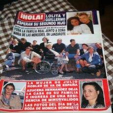 Coleccionismo de Revista Hola: REVISTA HOLA AÑO 1993 NUMERO 2541 LOLITA SEGUNDO HIJO. Lote 37923508